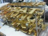 天津塘沽不锈钢字 吸塑字 钛金字铜字制作