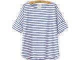 2014夏新款日系海军风3色纯棉条纹T恤  女T恤批发