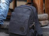 韩版双肩包男学生双肩包男时尚休闲男包2014新款电脑包帆布包包