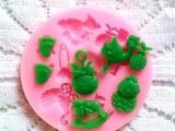 订制硅胶蛋糕模 圣诞硅胶翻糖模具 厂家直销烘焙工具