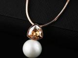 进口奥地利水晶项饰时尚珍珠锁骨链简约百搭高端显档次厂家直销