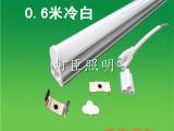 8wLED灯管T5一体led日光管冷白高亮0.6米led日光灯