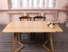 全新北欧风格全实木餐桌 白橡木原木色1.6米长80公分宽