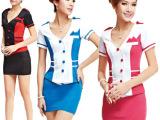 2013年新款空姐制服职业套装诱惑酒吧夜店ktv公主桑拿技师工作