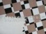 2014低价热卖现货不规则四维彩色几何方格印花PU皮革A3510
