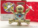 26101益尔乐最新跳舞机器人玩具 电动灯光音乐 旋转走路儿童玩