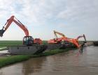 河南水陆挖掘机出租 水上挖掘机租赁