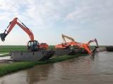 河南水陸挖掘機出租 水上挖掘機租賃