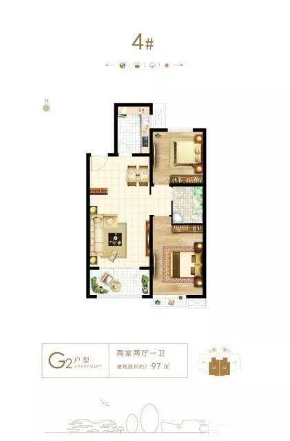直隶新城 二期 两室 南北通透 首付低 准现房 可贷款