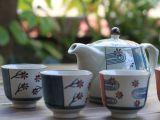 日式手绘套装陶瓷茶具1壶4杯礼盒装