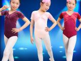 儿童短袖芭蕾舞蹈服体操服女韩国绒全棉现货春夏修身舞台服表演服