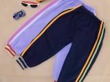 3元欧美童装宝宝卫裤男女童针织运动裤中大童双边长裤百搭