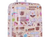 拉杆箱万向轮女PC旅行箱20寸登机箱女24寸潮学生行李箱拉杆小熊