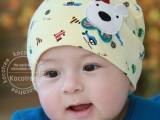 韩版新款春款婴儿童宝宝套头帽包头帽棉汽车印花小狗帽子
