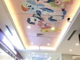 桂林专业手绘广告文化墙 幼儿园彩绘 墙体墙绘电话
