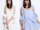 日本代购2015高端大牌好质量性感漏肩百褶收腰荷叶连体裤女625