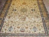 波斯手工打结真丝地毯,纯手工地毯畅销美国、德国、法国