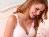 5101全棉提花小点粉蓝两色前开扣孕妇哺乳文胸
