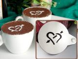 不锈钢 花式咖啡专用印花模具 咖啡喷花 拉花模具 镂空模板