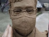 医院文化建设景观雕塑石材雕刻李文亮头像