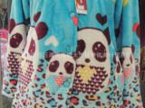 秋冬新款批发供应厂家直销开衫可爱卡通熊法兰绒 睡 衣家居服