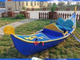 四川成都宜宾九寨沟攀枝花4米贡多拉欧式木船玻璃钢贡多拉船厂家