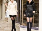 韩版2014冬季新款大毛领羽绒服女中长款修身加厚女装外套潮