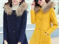 石家庄服装批发摆地摊最低价冬季女装加厚中长款呢子大衣外套批发