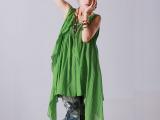 原创夏季女装新款 831117 日式无袖纯棉背心裙双层大摆连衣裙