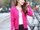 实拍2013哥弟新款韩版圆领双排扣气质OL风格女装开衫针织女装批