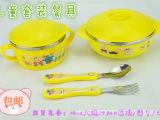 韩式儿童六件餐具套装 儿童套装碗勺叉套装 防烫防摔保温碗卡通碗