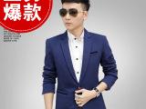 2015秋季韩版大码小西装修身青年商务英伦男士休闲西服外套