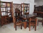 老船木家具茶台古典实木茶几茶椅功夫茶具休闲特色茶桌椅组合套装