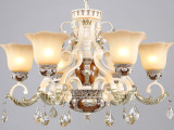 欧式透明树脂吊灯 卧室灯 创意铁艺灯具 创意酒店灯饰 9907