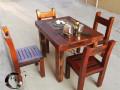厂家直销老船木家具功夫茶台现代简约阳台小茶桌博古架茶水柜