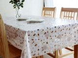紫荆花PVC蕾丝桌布水晶软玻璃耐热防油防水免洗西餐桌布垫布桌巾
