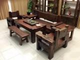 廠家直銷老船木茶桌椅組合實木龍骨茶臺