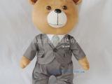 深圳厂家外贸毛绒玩具熊 站姿毛绒西服领带熊公仔 企业宣传礼品