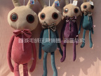 厂家直销 可爱艾斯克兔子 创意兔兔毛绒玩具爱思克公仔地摊玩具