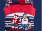 韩版清仓纯棉全棉泰迪熊维尼熊可爱四三件套儿童卡通床上用品