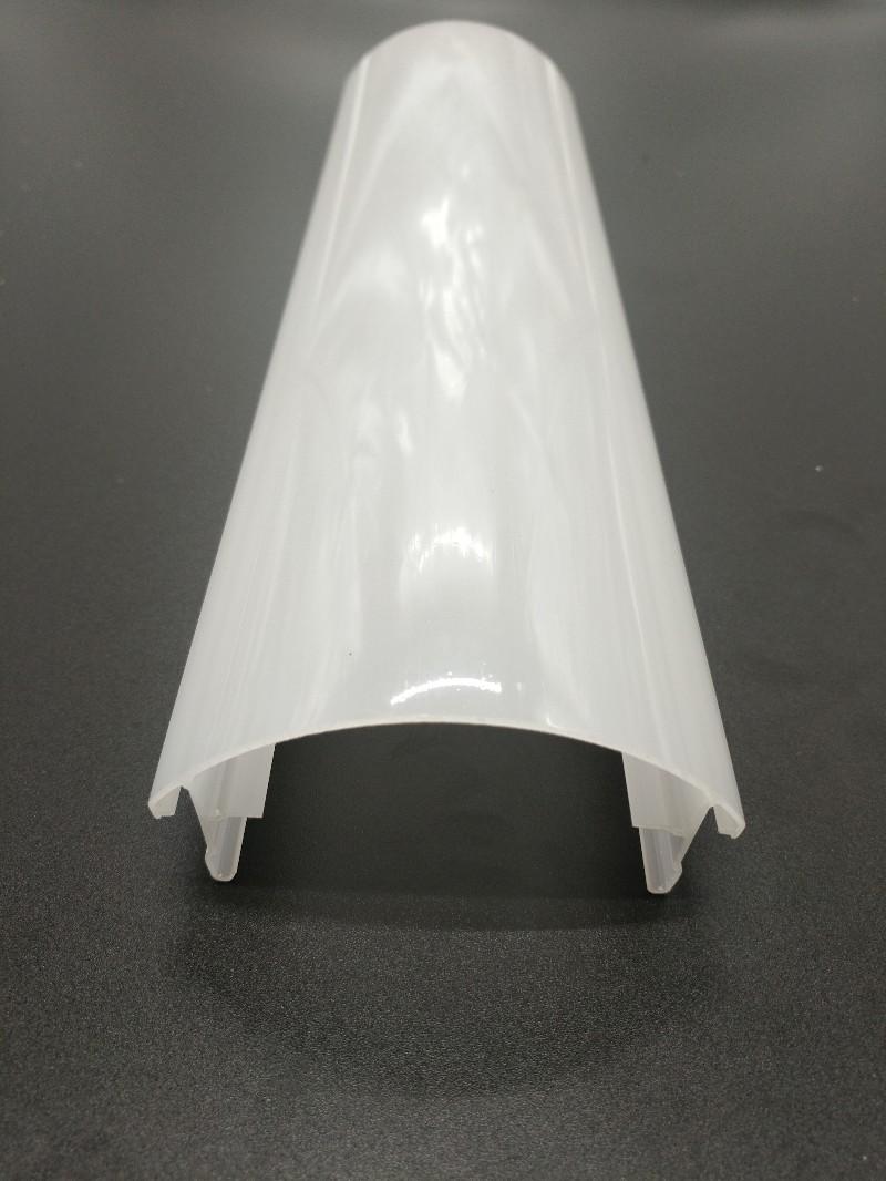 LED异型挤出PC灯罩 光扩散挤出LED灯塑料PC外壳配件