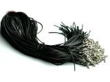 项链绳 挂件绳 黑色皮绳 吊坠绳子 活扣黑皮绳大量销售