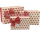 长方形礼品盒 爱心图案天地盖礼盒小号节日