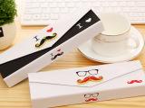 B016韩国创意纸质大胡子笔盒铅笔盒文具盒 学习用品 义乌批发定