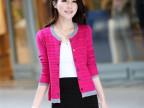 秋季新款2014 韩版女装长袖纯色女式针织开衫圆领空调开衫 女外套