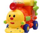 新达美玩具可爱万向小火车益智认知电动玩具车批发创意儿童玩具车