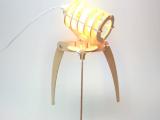 入侵者DIY木制台灯【普通开关】 创意个性拼装台灯[GK