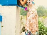 女神系列之V领蕾丝镂空花朵波西米亚长裙