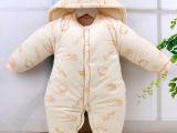 婴之友婴儿连体衣秋冬新生儿加厚爬服男女宝宝连身衣外出服