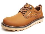 山十大头男鞋正品秋季休闲鞋真皮潮鞋系带耐磨低帮鞋工装鞋8567